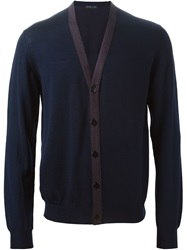 Etro V Neck Cardigan Blue
