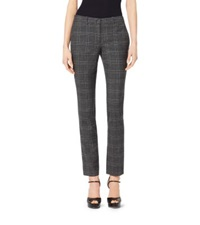 Michael Kors Samantha Glendplaid Stretch Flannel Skinny Pants Slate Multi