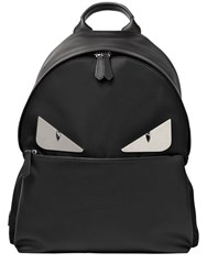 Fendi Monster Leather And Nylon Backpack
