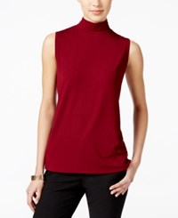 Charter Club Mock Turtleneck Shell Only At Macy's Cranberry Red