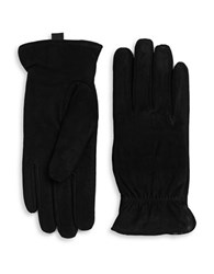 Isotoner Sherpa Lined Suede Gloves Black
