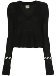 Khaite Contrast Whipstitching Wool Jumper 60