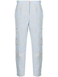 Escada Paisley Print Cropped Trousers 60