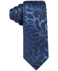 Alfani Men's Walsh Abstract Slim Tie Only At Macy's Navy