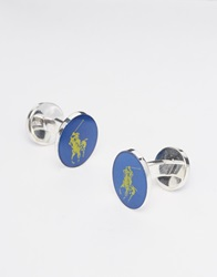 Polo Ralph Lauren Polo Player Cufflinks Blueyellow