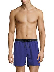 Michael Kors Contrast Swim Trunks Cobalt
