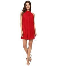 Brigitte Bailey Neri High Neck Accordion Dress Red Women's Dress