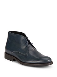 Bugatchi Leather Ankle Boots Green