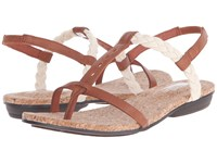 The North Face Bridgeton Braid Slingback Cognac Brown Vintage White Women's Sandals