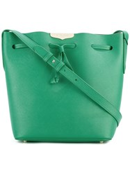 Twin Set Drawstring Crossbody Bag Green