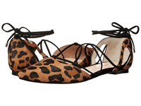 Raye Pepper Dark Tan Leopard Women's Flat Shoes Animal Print