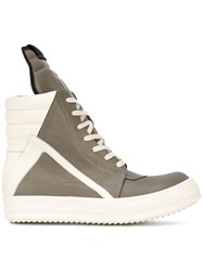 Rick Owens 'Geobasket' Hi Top Sneakers Grey