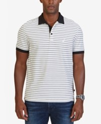 Nautica Men's Big And Tall Classic Fit Striped Polo Marshmallow