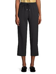 See By Chloe Cropped Crepe Trousers Black