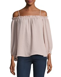 Glamorous Off The Shoulder Ruffled Camisole Top Nude