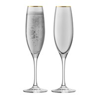 Lsa International Sorbet Champagne Flute Set Of 2 Liquorice