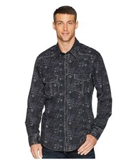 Rock And Roll Cowboy Long Sleeve Snap B2s6029 Black Clothing