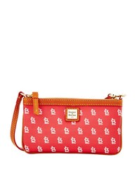 Dooney And Bourke Sports Cardinals Slim Wristlet Red