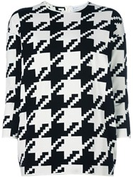 Gianluca Capannolo Houndstooth Pattern Pullover Black