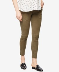 A Pea In The Pod Maternity Cropped Skinny Pants Green Pine
