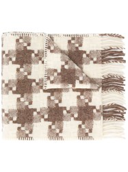 Our Legacy Check Scarf Neutrals