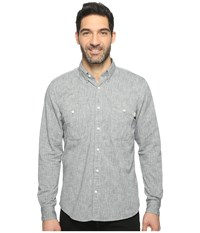 Timberland Mumford River Classic Chambray Shirt Dark Sapphire Yarn Dye Men's Long Sleeve Button Up Blue
