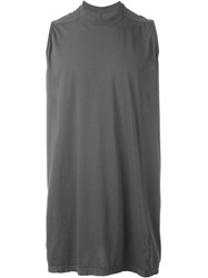 Rick Owens Drkshdw Sleeveless Wide Fit Tank Top Grey