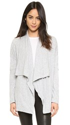 Velvet Emanuela Drape Cardigan Heather Grey
