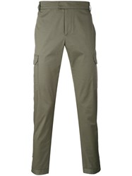 Les Hommes Cargo Trousers Men Cotton Spandex Elastane 50 Green