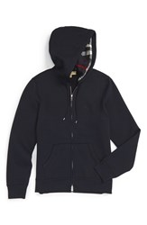 Burberry Men's 'Claredon' Full Zip Hoodie Navy