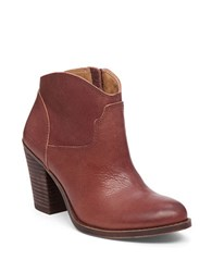 Lucky Brand Eller Leather Ankle Length Booties Russet