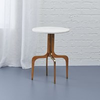 Cb2 Dorset Marble Side Table