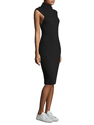 Ella Moss Mockneck Bodycon Dress Black