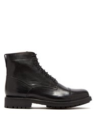 Grenson Joseph Lace Up Leather Boots Black