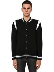 Givenchy Embroidered Wool Knit Bomber Jacket Black