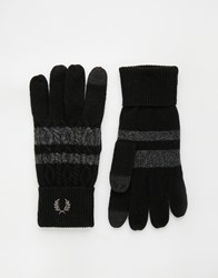 Fred Perry Cable Tipped Touch Gloves Black
