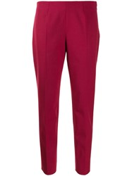 Piazza Sempione Straight Fit Trousers Red