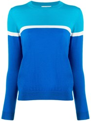 Chinti And Parker Two Tone Sweater Blue
