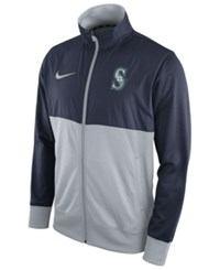Nike Men's Seattle Mariners Track Jacket Navy Gray