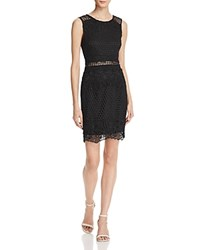 Aqua Lace Bodycon Sleeveless Dress 100 Exclusive Black