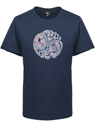Pretty Green Men's Camley Paisley Applique T Shirt Navy