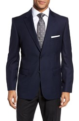 Jb Britches 'S Big And Tall Classic Fit Solid Wool Sport Coat Navy
