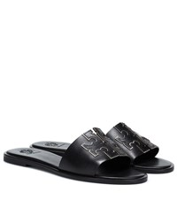 Tory Burch Ines Leather Slides Black