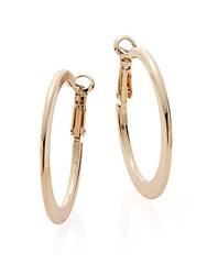 Saks Fifth Avenue Medium Knife Edge Hoop Earrings 2 Gold