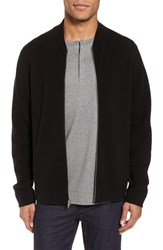 Calibrate Ottoman Zip Cardigan Black