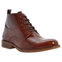 Bertie Cadet Leather Lace Up Boots Brown