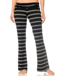A Pea In The Pod Maternity Adjustable Ruched Striped Pajama Pants Black White Stripe