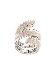 John Hardy Classic Chain Diamond Ring Silver