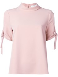 Milly Open Sleeve T Shirt Pink Purple