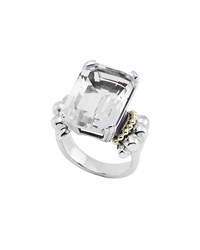 Lagos Glacier White Topaz Statement Ring Silver